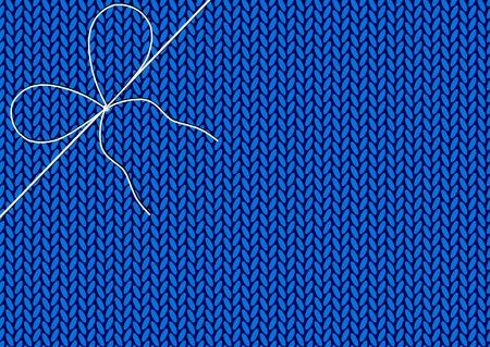knitted background: Nudo blanco de hilos en el fondo de punto