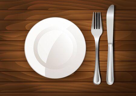 dinner plate: Dinner plate, knife and fork