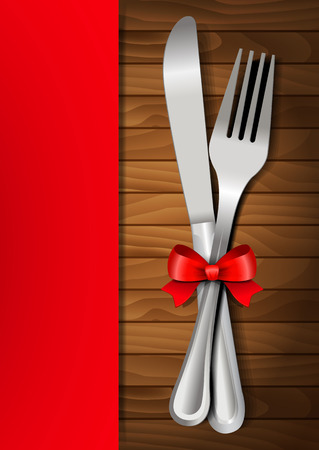 wedding table setting: Valentines dinner on a wooden background