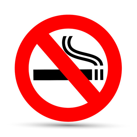no smoking sign: No smoking sign on a white background Illustration