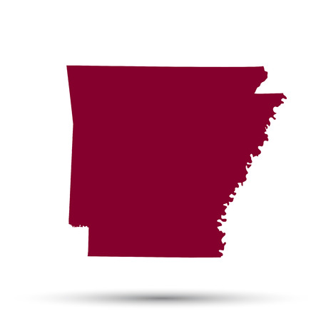 arkansas state map: Map of the U.S. state of Arkansas on a white background