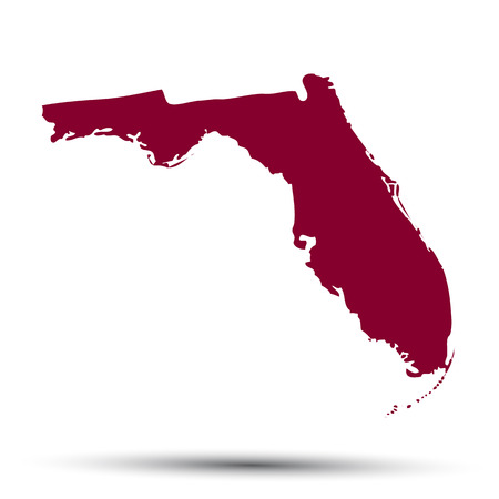 Map of the U.S. state of Florida on a white background Illustration