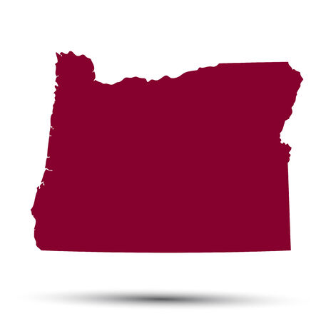 Map Of The US State Of Oregon On A White Background Royalty Free - Us map all white red background