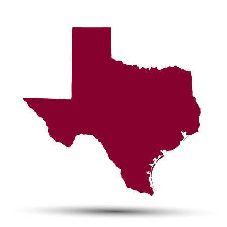 federation: Map of the U.S. state of Texas on a white background