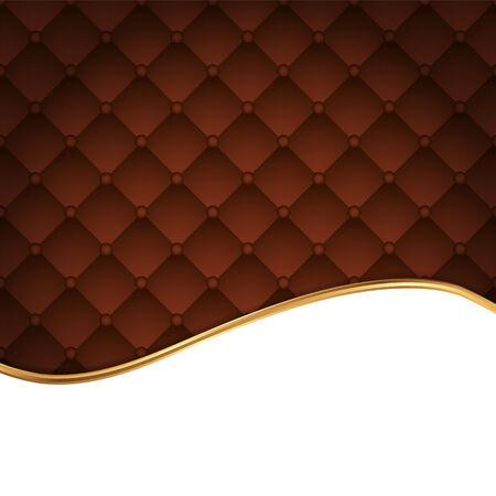 Brown leather background Illustration