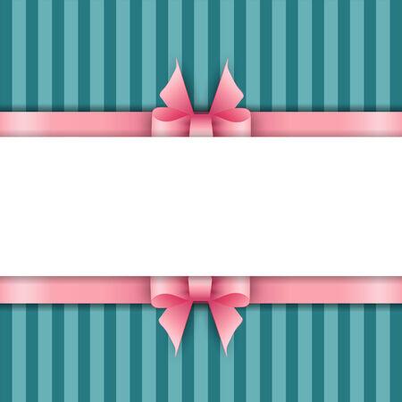 mo�os rosas: De fondo linda con cintas de color rosa sobre un fondo azul