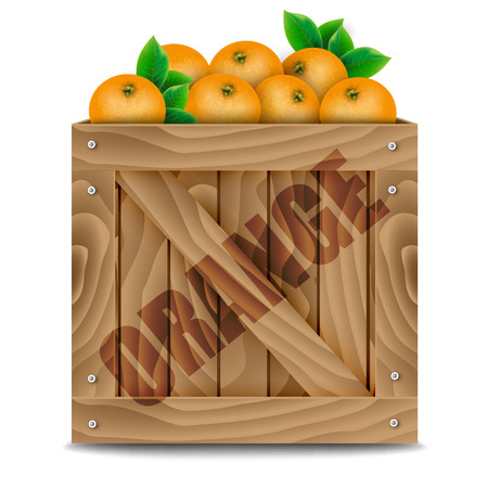 agriculture wallpaper: Oranges crate on a white background