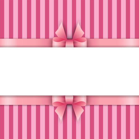 tied girl: Background with pink ribbons Illustration