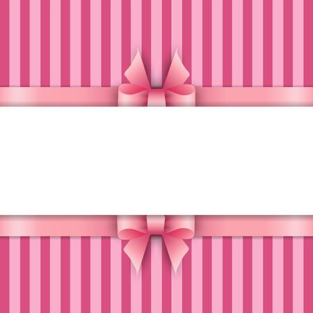 mo�os rosas: Fondo con cintas de color rosa Vectores