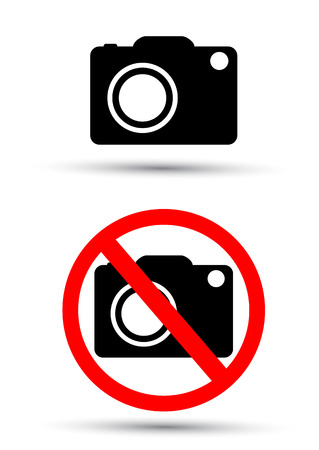 no photo: No photo camera vector sign Illustration