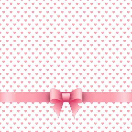 pink ribbon: Cute background with pink ribbon