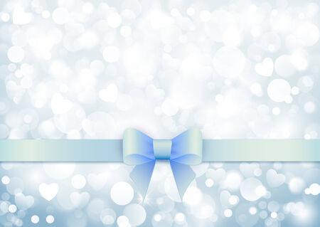 winter blues: Elegant background with blue bow Illustration