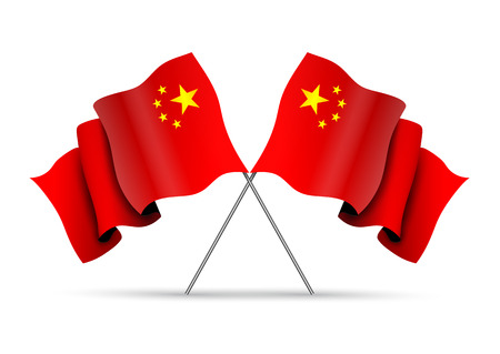 far east: Crossed China Flags