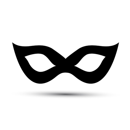 carnevale: Black carnival mask isolated Illustration