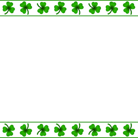 patric banner: Clover leafs frame