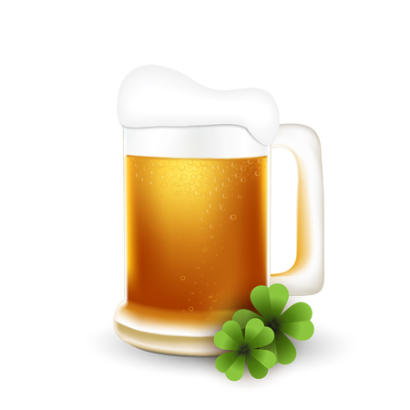 stpatrick: St.Patrick beer mug with clover