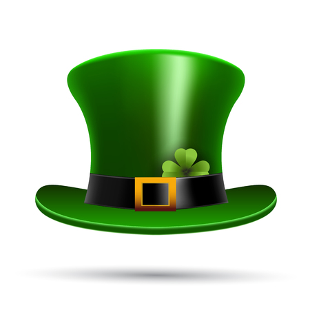 leprechaun hat: St Patricks hat and clover Illustration