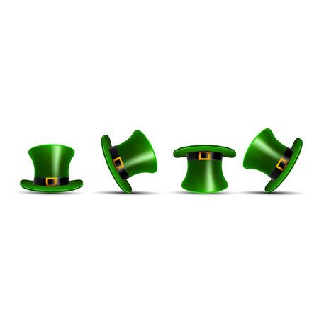 brimmed: St Patricks hat Illustration