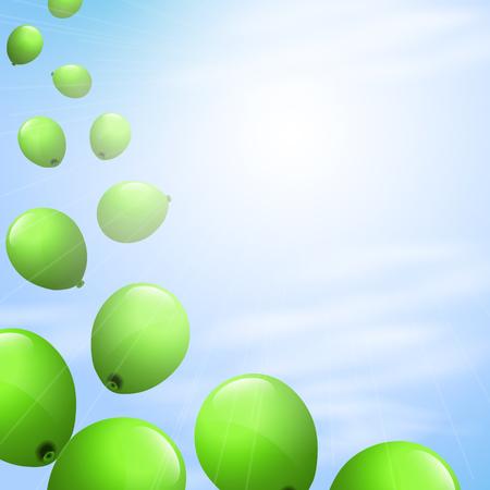 flotation: Balloons in the sky Illustration