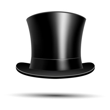 top hat: Black top hat Illustration