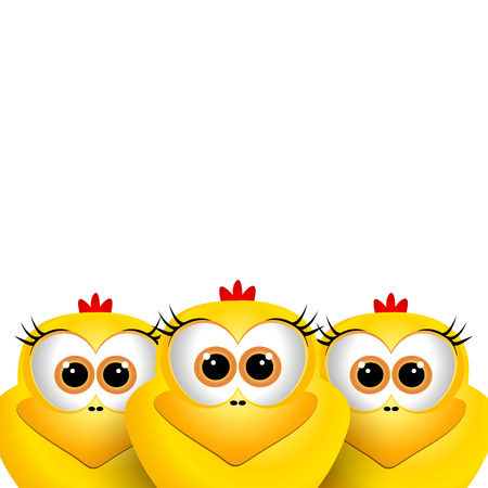 funny easter: Funny Easter chicks Illustration