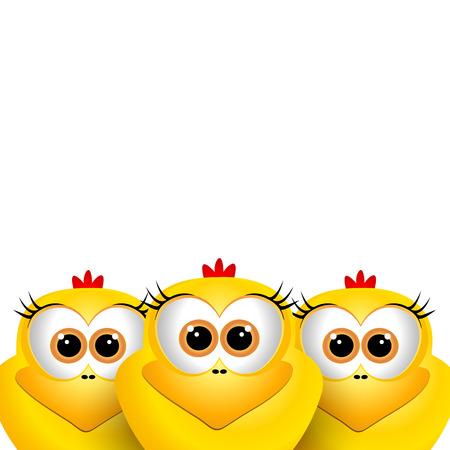 pollitos: Polluelos divertidos de Pascua Vectores