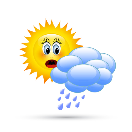 Sun behind the clouds Illustration