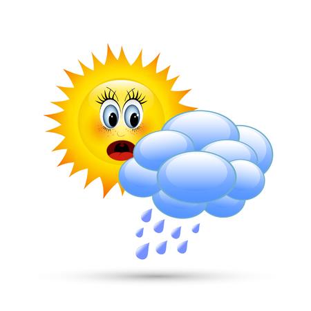 nebulosidade: Sun atrás das nuvens