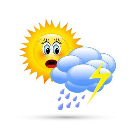 Cartoon weather images Illustration
