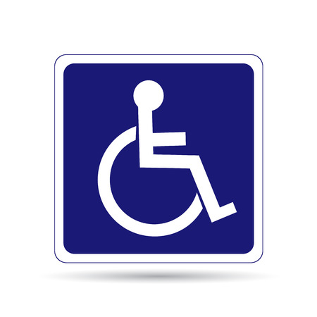 handicapped: Handicapped person sign