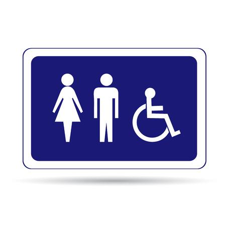 toilette: Toilette sign
