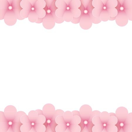 place for text: Pink floral background with place for text