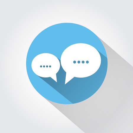 talking: Speech bubbles with shadow Illustration