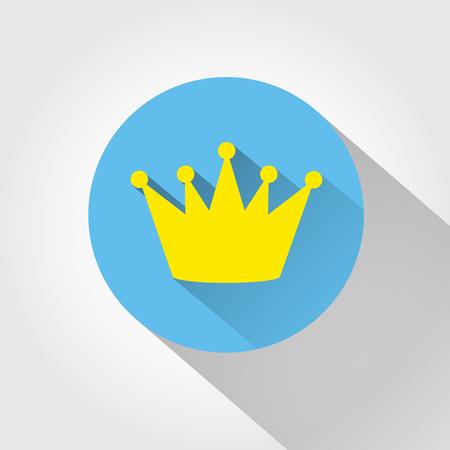 corona de reina: icono de la corona. estilo de dise�o plano.