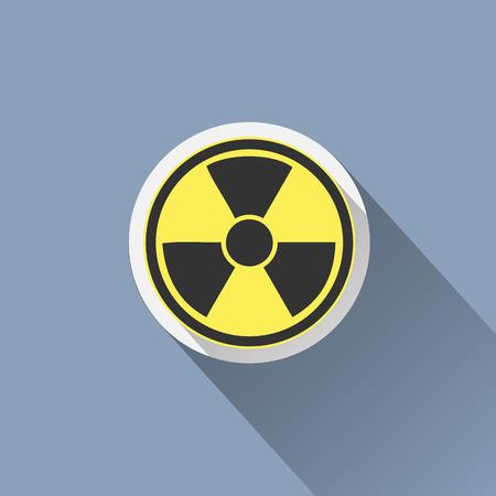 atomic bomb: Radiation sign icon. Danger symbol. Illustration