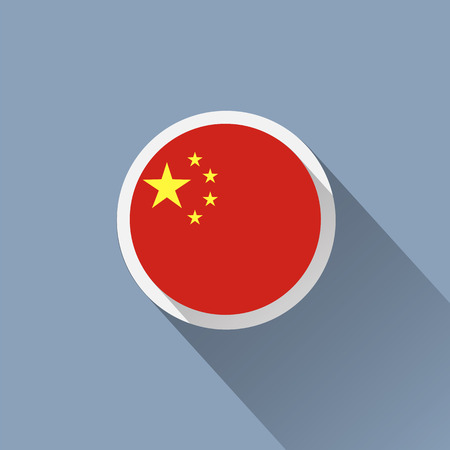 flag button: China Flag Button Icon