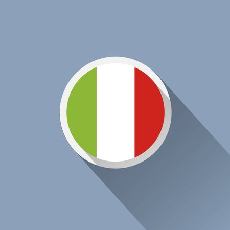 flag button: Italy Flag Button Icon
