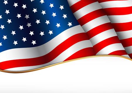patriotic border: Bandera de Estados Unidos