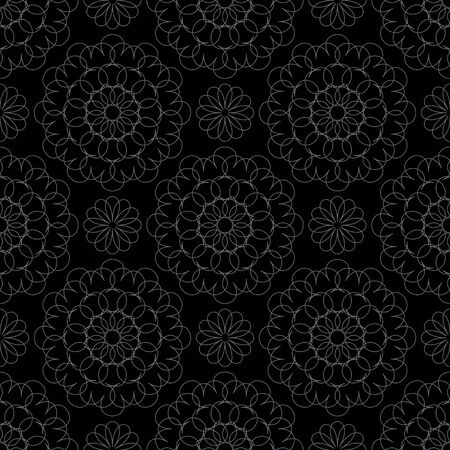 Lace on a black background