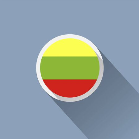 flagged: Lithuanian flag. Illustration