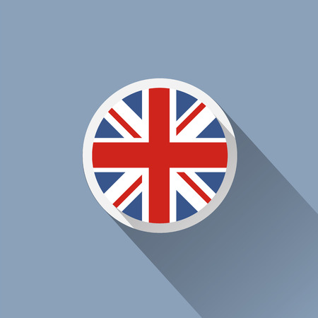 uk map: UK Flag Button Icon Illustration