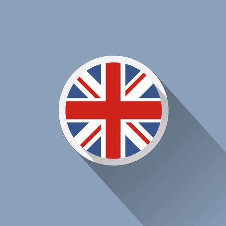 uk map: UK Flag Button Icon Illustration