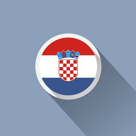 marten: Flag Croatia icon Illustration