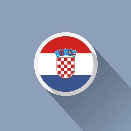 marten: Flag Croatia icon Illustration