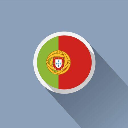 portuguese: Portuguese flag icon Illustration