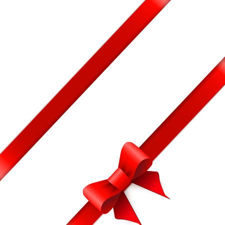 horizontal border: Red ribbon bow horizontal border