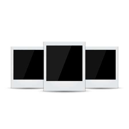 recollection: Retro photo frames. Vector illustration Stock Photo