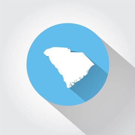 carolina: Map of South Carolina Illustration