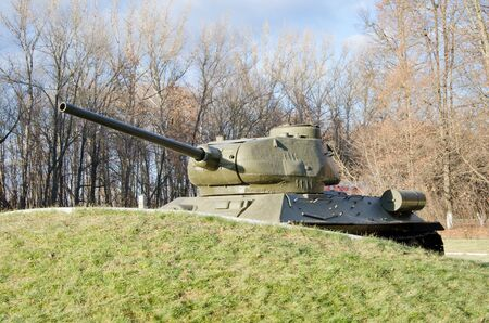 t34: ORYOL, RUSSIA - November 02, 2014: Monument to the Russian T-34 tanks