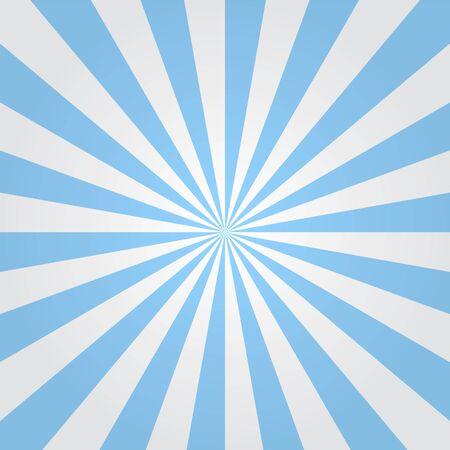 radiate: Striped background. Blue beams.